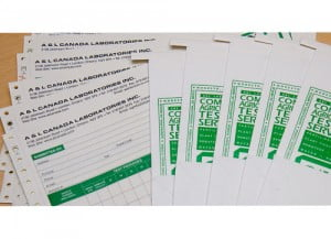 A & L Canada -- Lab forms and sample bags -- soil